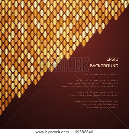 Abstract Luxury Gold Pattern Of A Plurality Of Rhombus.