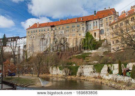 The king's castle in Cesky Krumlov in South Czechia (Czech Republic). February 2016