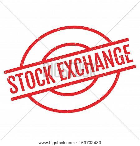 Stock Exchange rubber stamp. Grunge design with dust scratches. Effects can be easily removed for a clean, crisp look. Color is easily changed.