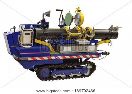 modern self-propelled welding machines enable welding of plastic pipes of large diameter at the construction sites