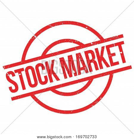 Stock Market rubber stamp. Grunge design with dust scratches. Effects can be easily removed for a clean, crisp look. Color is easily changed.