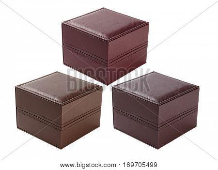 Three Gift Boxes on White Background