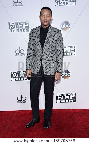 LOS ANGELES - NOV 20:  John Legend arrives to the American Music Awards 2016 on November 20, 2016 in Hollywood, CA