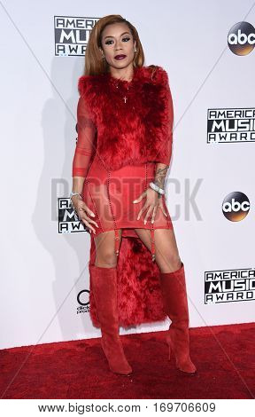 LOS ANGELES - NOV 20:  Keyshia Cole arrives to the American Music Awards 2016 on November 20, 2016 in Hollywood, CA
