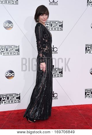 LOS ANGELES - NOV 20:  Milla Jovovich arrives to the American Music Awards 2016 on November 20, 2016 in Hollywood, CA
