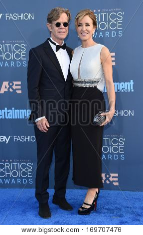 LOS ANGELES - DEC 11:  William H. Macy and  Felicity Huffman arrives to the Critics' Choice Awards 2016 on December 11, 2016 in Hollywood, CA