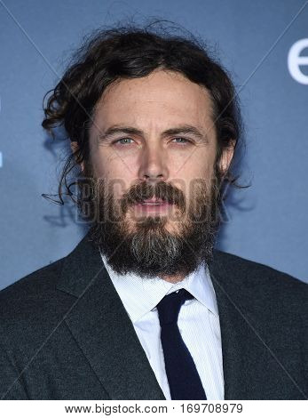 LOS ANGELES - DEC 11:  Casey Affleck arrives to the Critics' Choice Awards 2016 on December 11, 2016 in Hollywood, CA