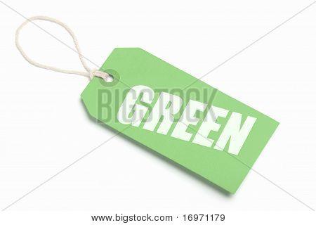 Green, Eco Tag