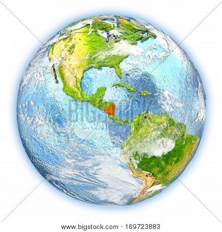 Nicaragua On Earth Isolated