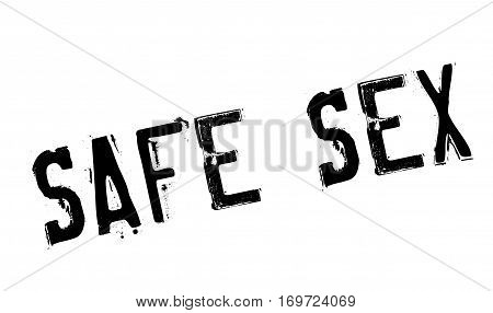 Safe Sex rubber stamp. Grunge design with dust scratches. Effects can be easily removed for a clean, crisp look. Color is easily changed.