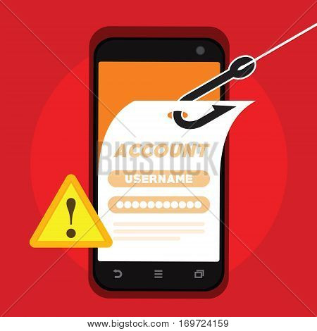 account stealing by hackers vector illustration design