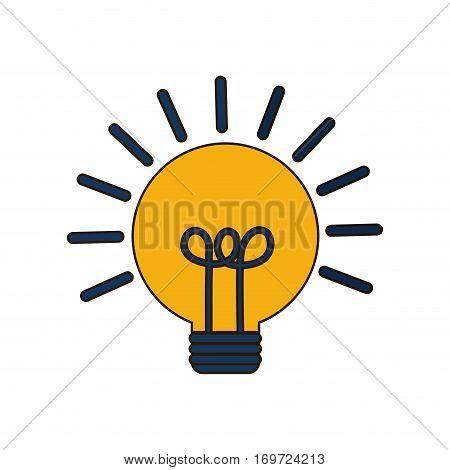 light brainstorm image design, vector illustration icon
