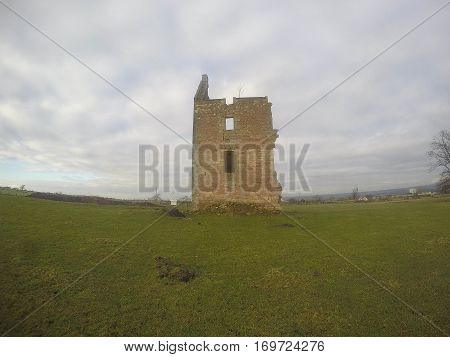 Old Runied Castle in West of Scotland