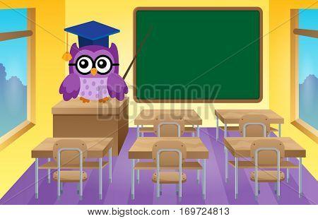 Stylized school owl theme image 9 - eps10 vector illustration.