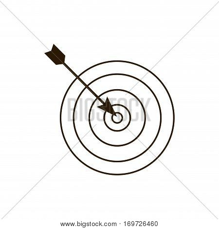 dartboard related icon image, vector illustration design