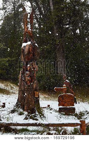 Sculptures Near El Messidor