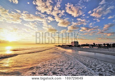 The beautiful sea of Daytona Beach in Florida