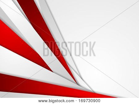 Abstract corporate red grey tech background. Vector geometric graphic design