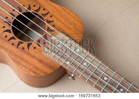 Ukulele Instrument Close Up