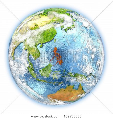 Philippines On Earth Isolated