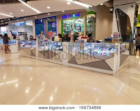 CHIANG RAI THAILAND - FEBRUARY 2 : Department store interior view with aisle at Central Plaza on February 2 2017 in Chiang rai Thailand.