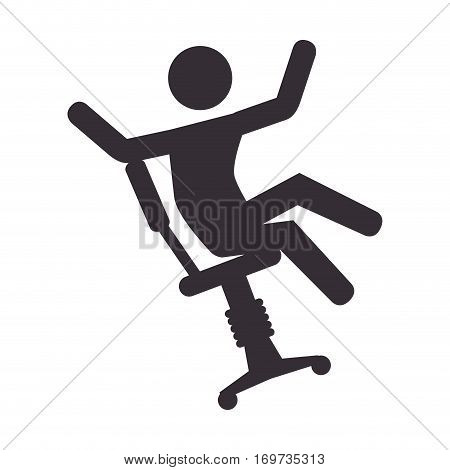 human silhouette accident icon vector illustration design