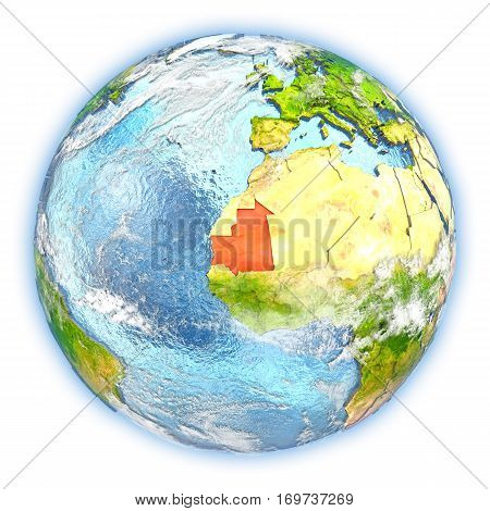 Mauritania On Earth Isolated