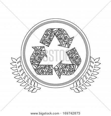 figure symbol recycle reuse reduce icon, vector illustration
