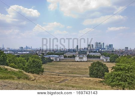 View of Old Royal Naval College; Greenwich; London