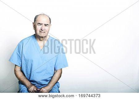 Senior Adult Patient looking very upset