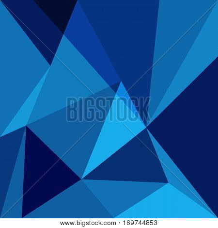 Blue low poly design element background, stock vector