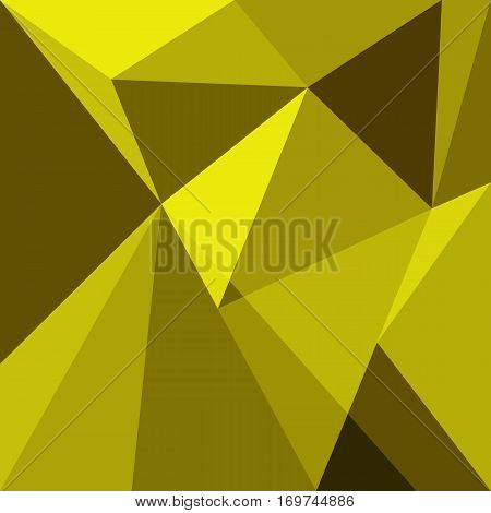 Yellow low poly design element background, stock vector