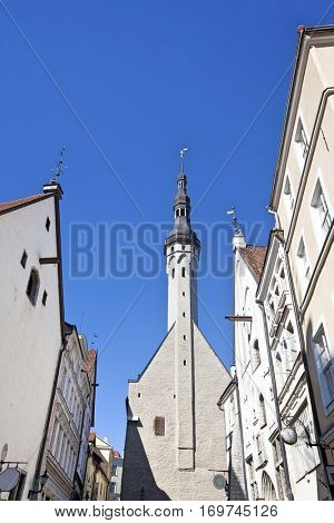 Buildings in the Old Town in Tallinn, Estonia