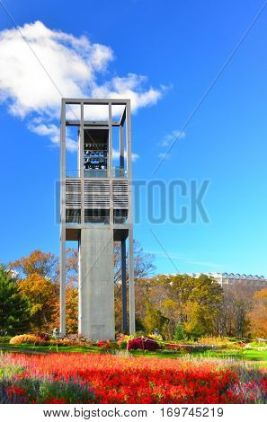 WASHINGTON, DC - NOV 12: The Netherlands Carillon located in Arlington, Virginia on November 12, 2013. It is a gift as an expression of gratitude from Netherland for aid given during and after WWII.