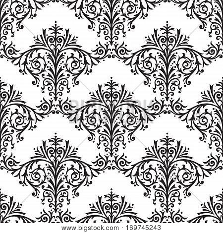Damask Seamless Floral Pattern Retro Background Vector