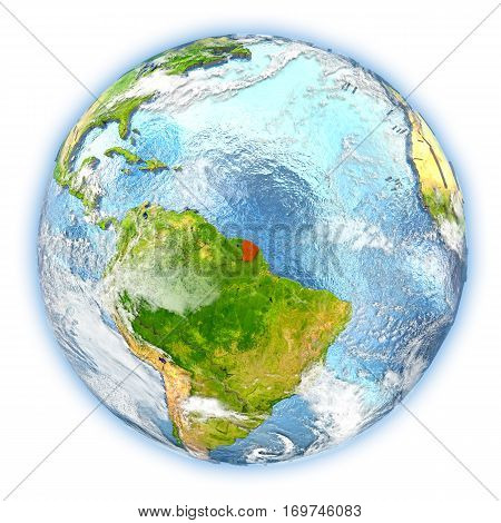 French Guiana On Earth Isolated