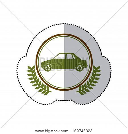 symbol cars care environment image, vector illustraion
