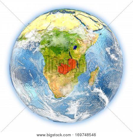 Zambia On Earth Isolated