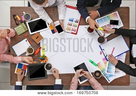 Business people colleagues. Teamwork concept