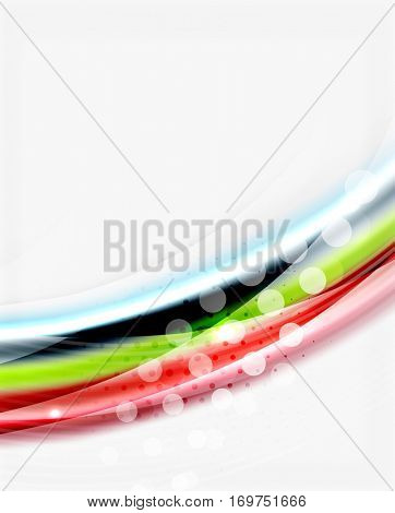 Glossy translucent wave template, line pattern