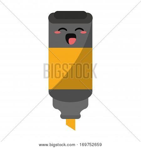 cartoon permanent marker school utensil vector illustration eps 10