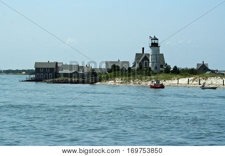 View of a shoreline in Cape Cod, Massachusetts