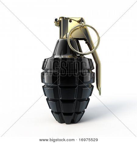 Stilyze  mk-2 hand grenade - 3d rendered illustration