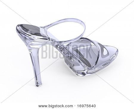 Woman crystal modern high heels shoe