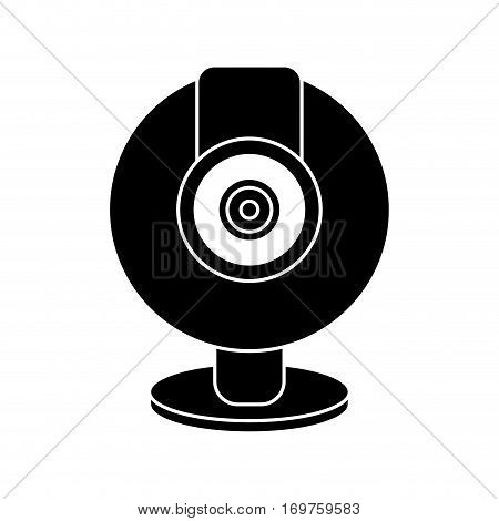 web cam computer rounded icon pictogram vector illustration eps 10