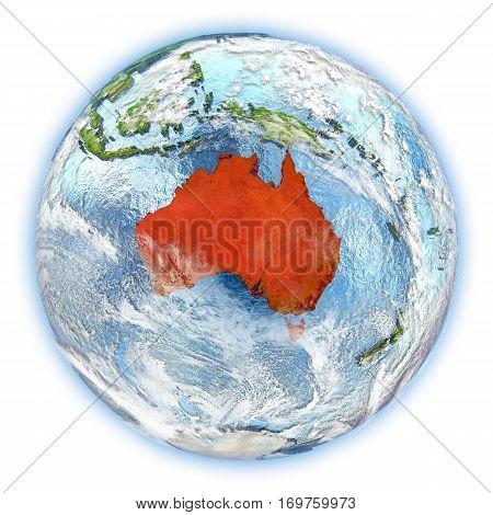 Australia On Earth Isolated