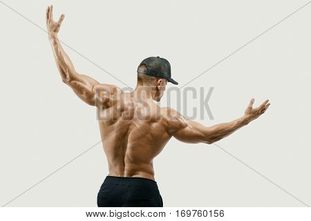 Athlete Turning Back And Rise Both Hands