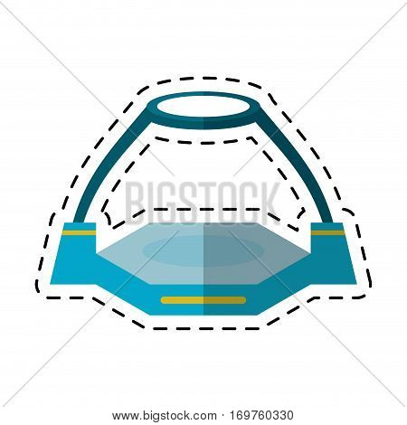 game platform simulator virtual reality cut line vector illustration eps 10