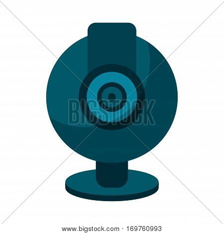 web cam computer rounded icon vector illustration eps 10