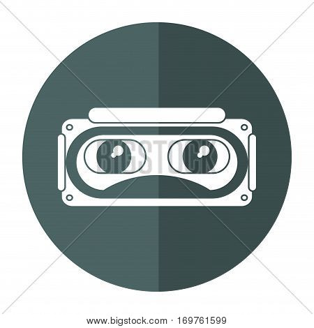 goggles 3d simulation entertaiment shadow vector illustration eps 10